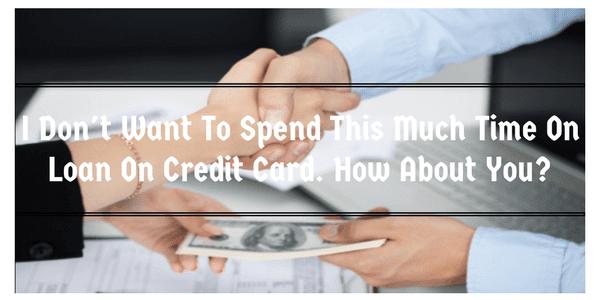 loan on credit card