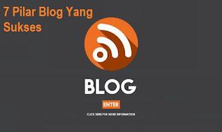 7 Pilar Blog Yang Sukses