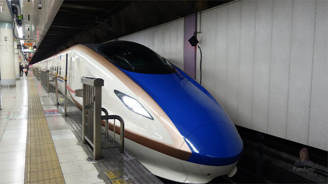 Salah satu jenis kereta Shinkansen