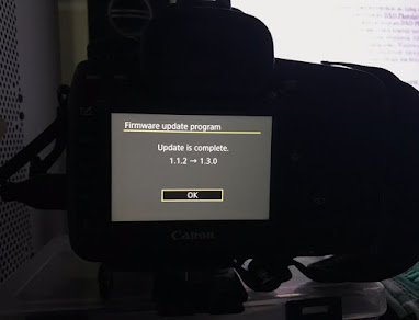 Canon firmware update completed