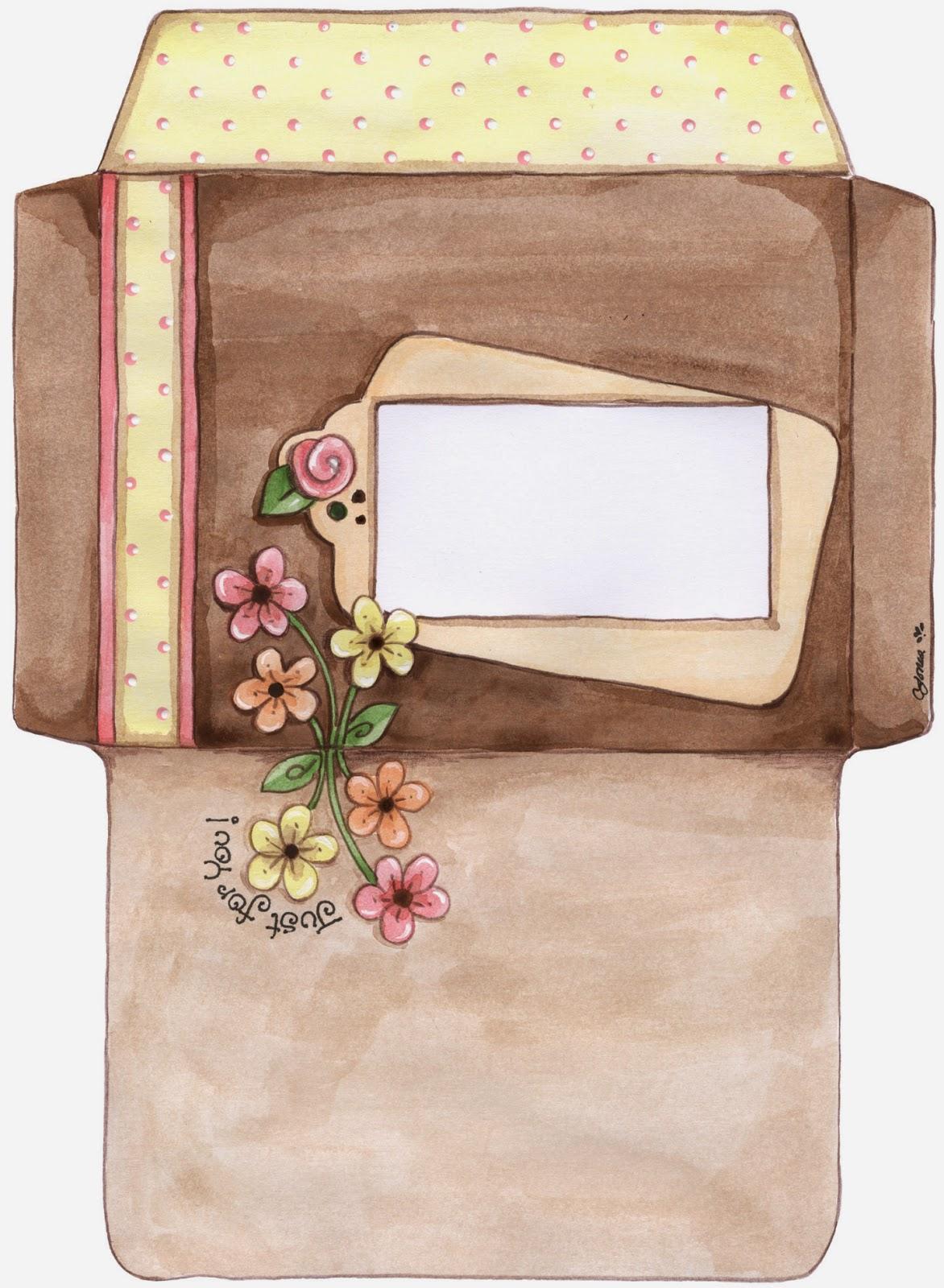 Sobres florales para imprimir gratis ideas y material for Sobres de goma eva