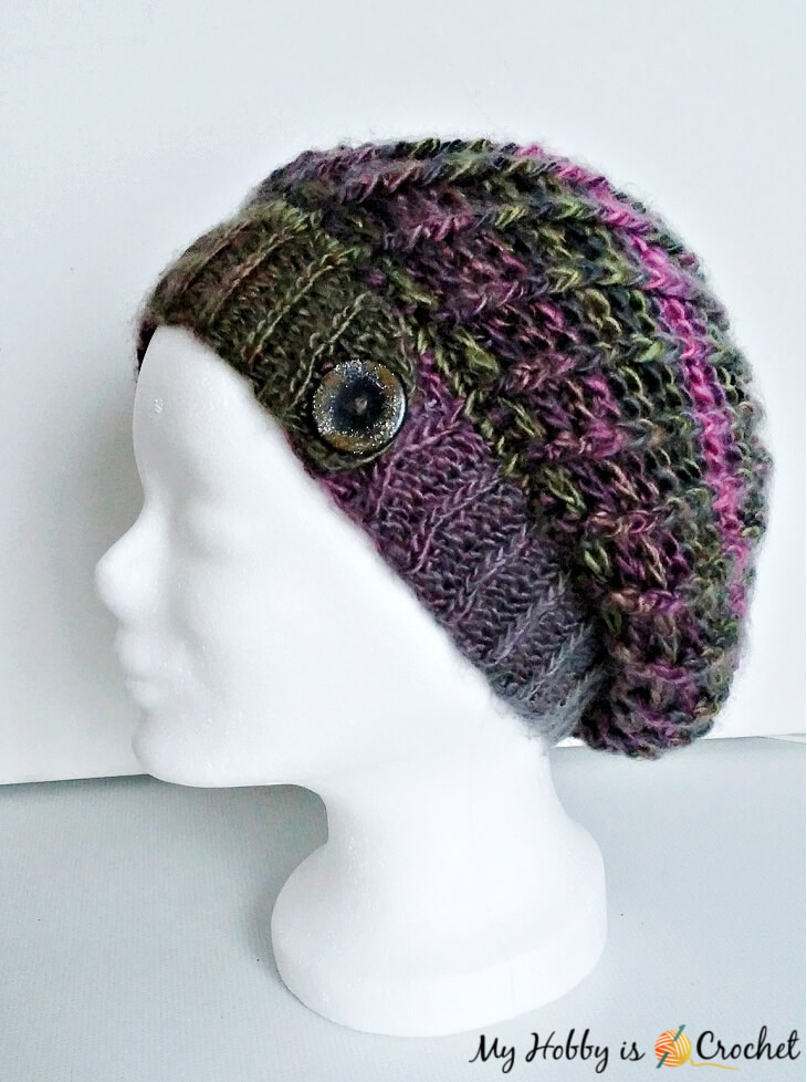 crochet hat echo ridge slouch