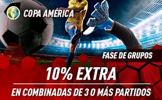 sportium COPA AMÉRICA 2019: 10% Extra en triples o superior