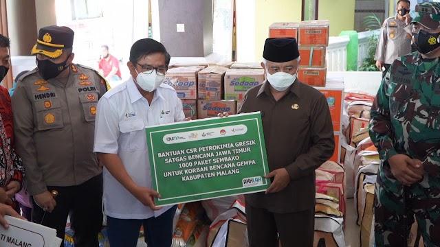 Petrokimia Gresik Salurkan 1.000 Paket Sembako untuk Korban Gempa Bumi Malang