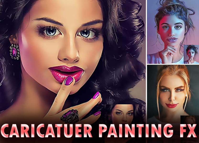 Caricature Painting Fx Photoshop Action