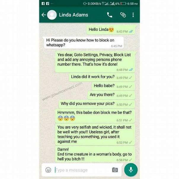 what happens if you block someone on whatsapp