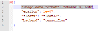 The 'image_data_format' parameter in the keras.json file