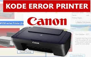 Kode Error P Dan E Pada Printer MP287 Atau Mp258