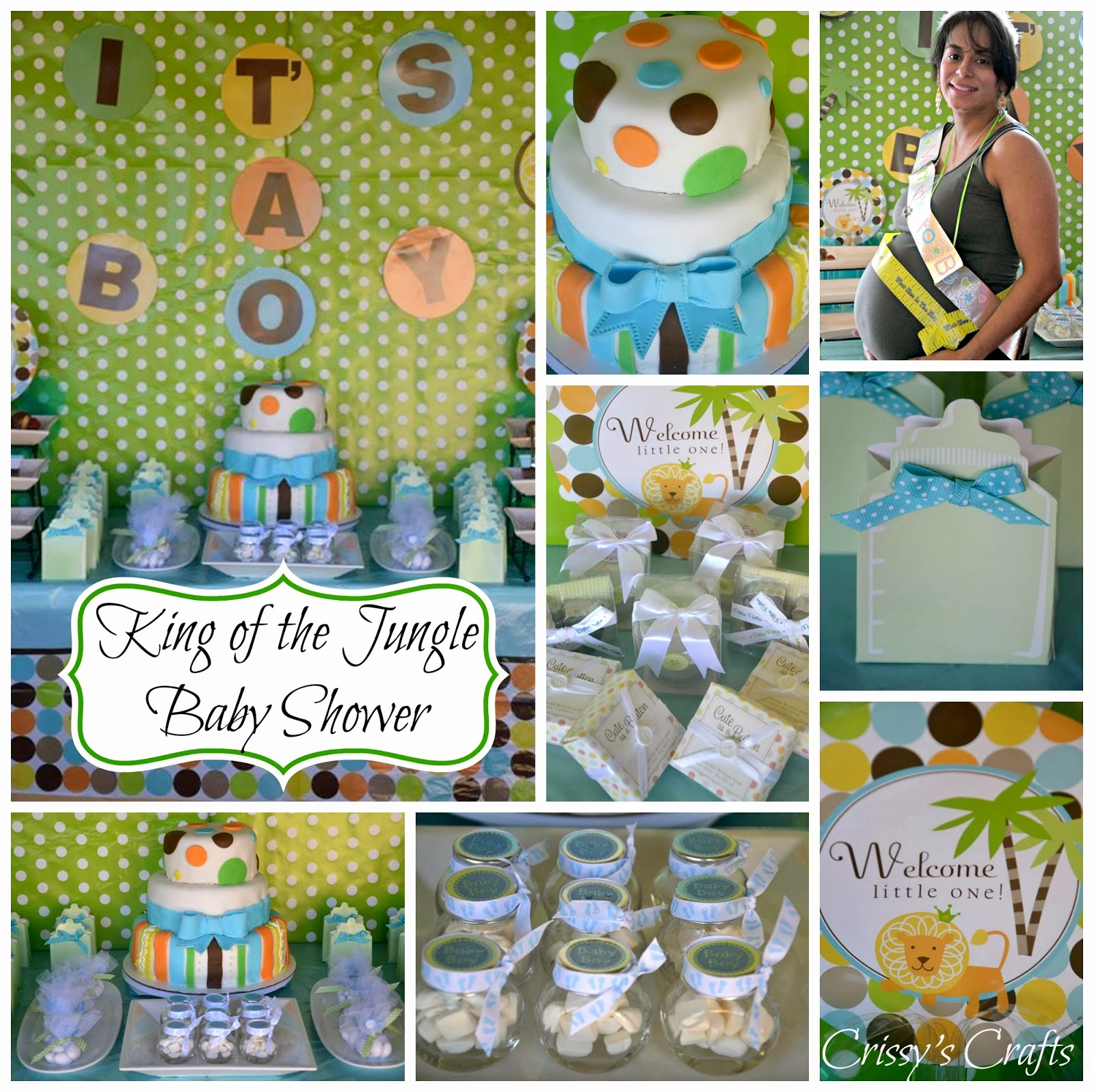 Crissy's Crafts: King Of The Jungle Baby Shower