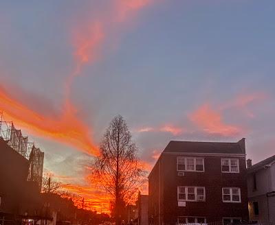 Winter Evening Sky in Queens