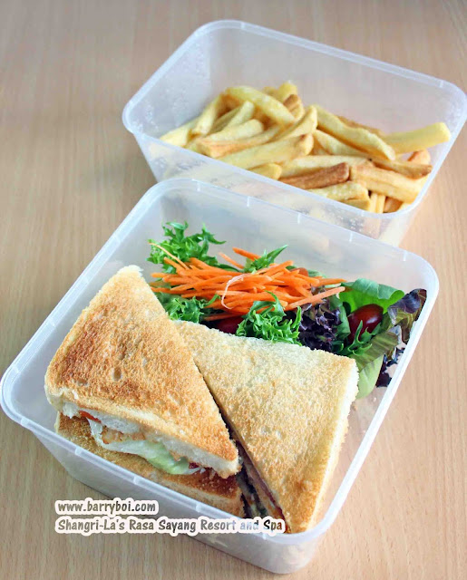 Shang Shack Drive-thru Pick Up by Shangri-La's Rasa Sayang Resort & Spa Penang Hotel Blogger Influencer Malaysia Makan Sedap Delicious Food Club Sandwich