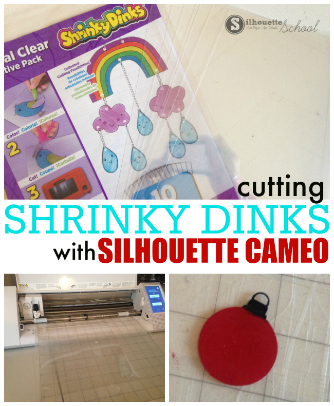 shrinky dinks silhouette cameo cut settings