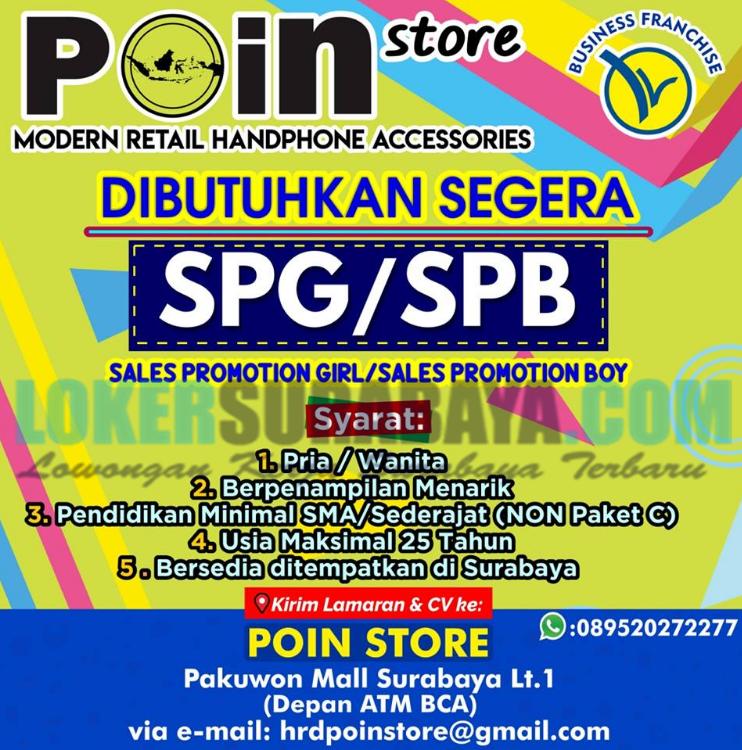 Lowongan Kerja Surabaya Terbaru Di Poin Store Juni 2019 Lowongan Kerja Surabaya April 2021 Lowongan Kerja Jawa Timur Terbaru