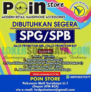 Lowongan Kerja Surabaya Terbaru di Poin Store Juni 2019
