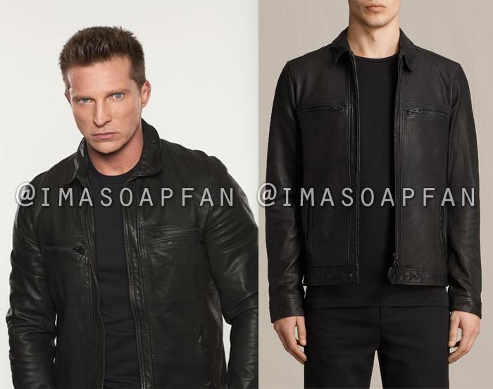 Jason Morgan, Steve Burton, Black Leather Jacket, General Hospital, GH