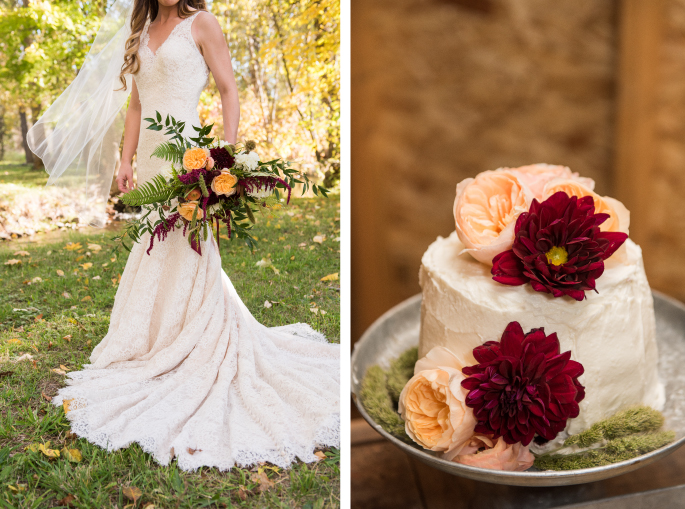 Bouquet / Wedding Cake / Cali Frankovic Photography