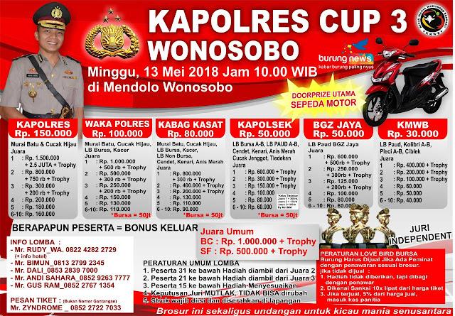 Ajang Kicaumania di Kapolres Cup 3 Wonosobo Minggu 13 Mei 2018