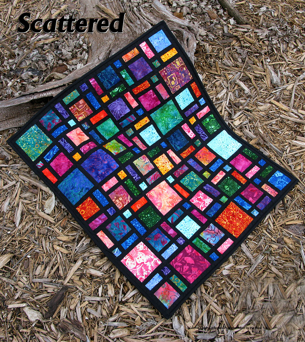 Mini Scattered Quilt In Batiks