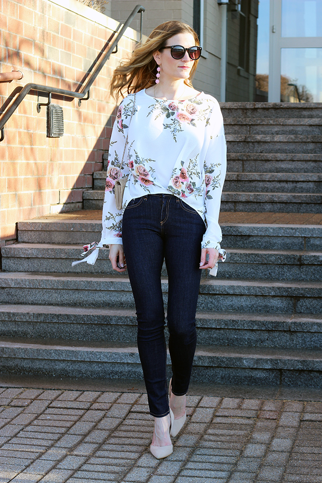 Foral Top #floralbouse #springstyle #datenightlook