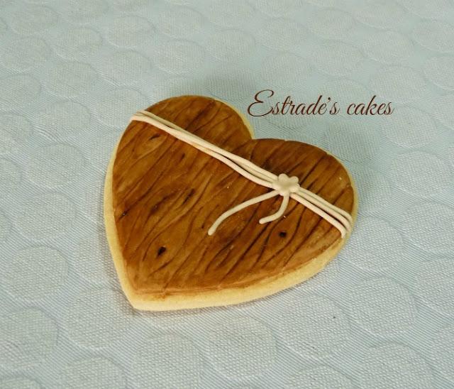 Galletas de boda simulando madera 4