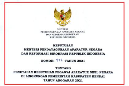 Formasi CPNS & PPPK Guru Kabupaten Kendal Tahun 2021