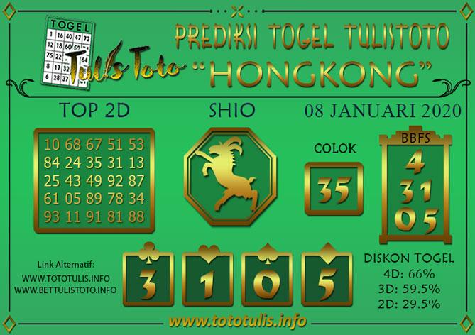 Prediksi Togel HONGKONG TULISTOTO 08 JANUARI 2020
