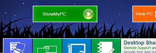 ShowMyPC remote screen sharing application