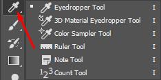 Eyedropper tool Photoshop dan fungsinya