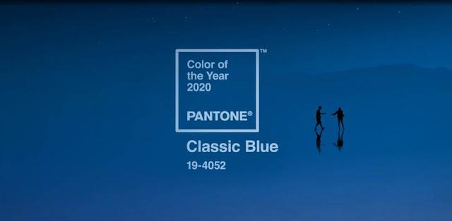 Classic blue é a cor do ano de 2020, segundo a Pantone