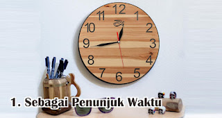 Jam Dinding Berfungsi Sebagai Penunjuk Waktu