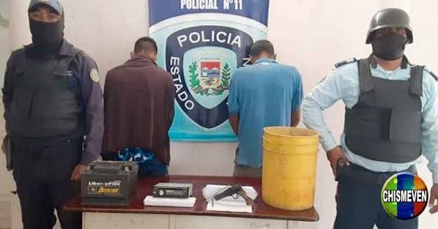 Peligrosos delincuentes detenidos por robarse un tobo amarillo y una batería