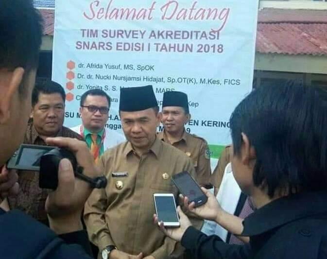 RSUD MH A Thalib Raih Akreditasi Madya Bintang Tiga, Adirozal Pinta Pelayanan Ditingkatkan