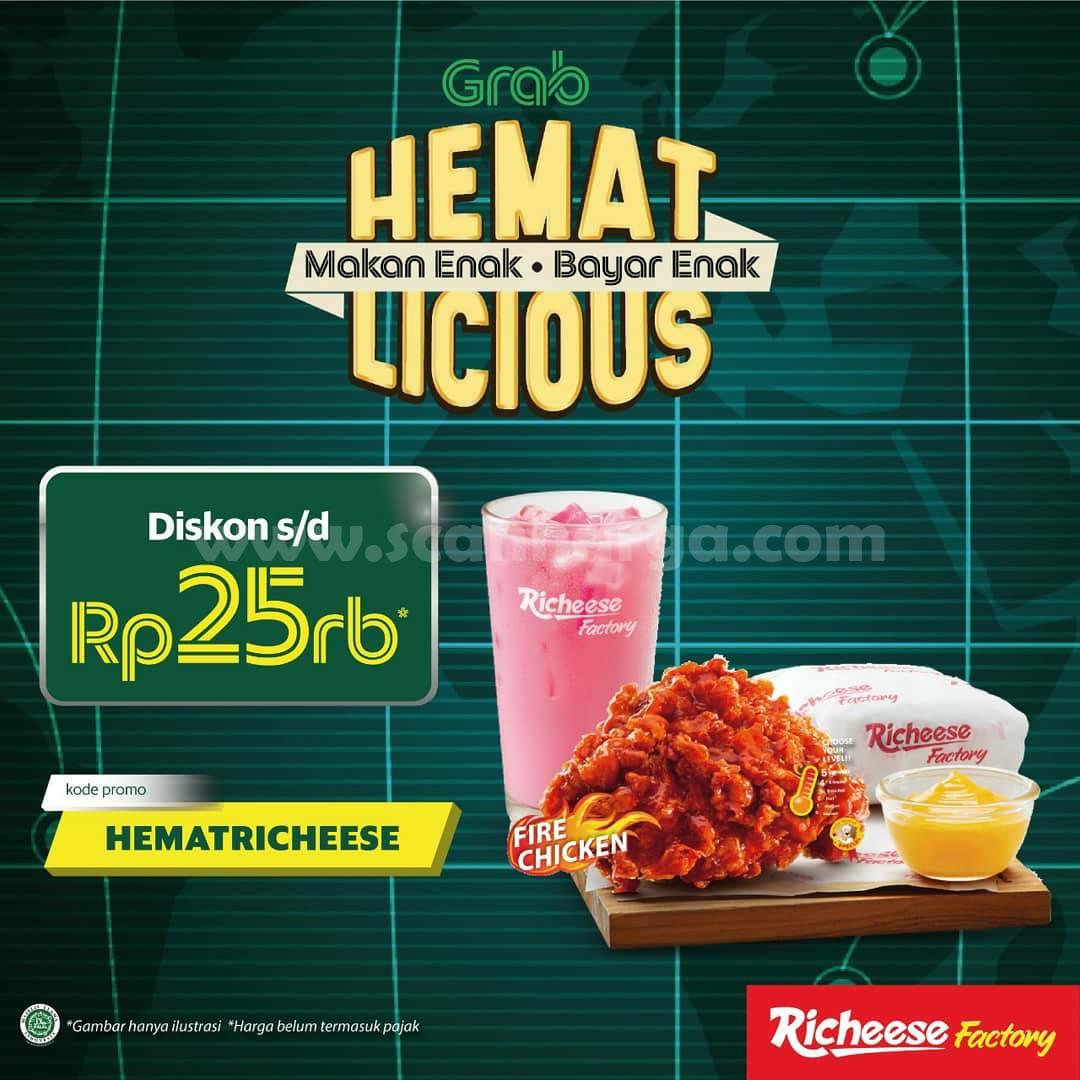 Richeese Factory Promo Grabfood Hemat Licious Diskon s/d Rp 25Rb