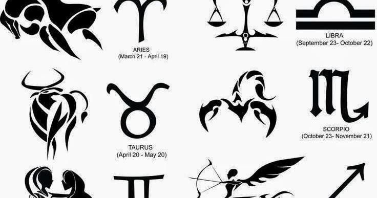 Diseño Tatuaje Tribal Signos Zodiacales Set 12 Imágenes Del