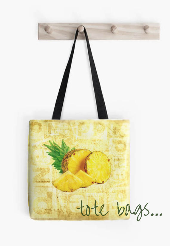 tote bags at redbubble pineapple designed