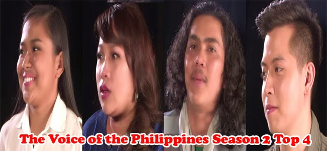 The Voice of the Philippines Season 2 Top 4 Result
