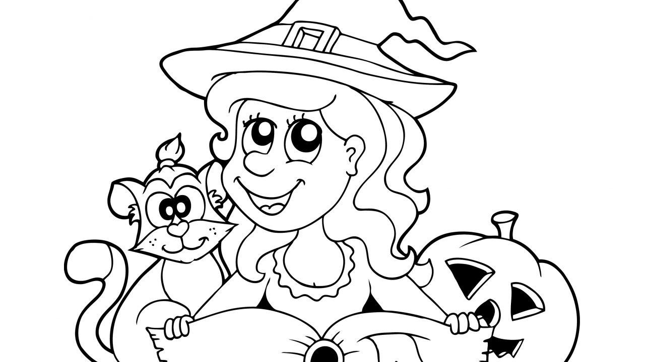 Magnífico Páginas Para Colorear Halloween Colección - Enmarcado Para ...