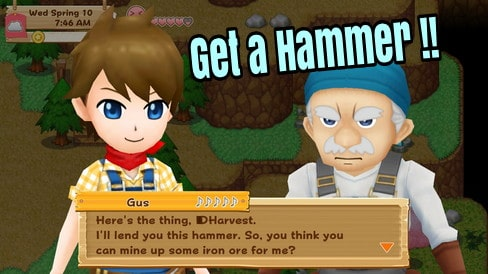 Harvest Moon: Light of Hope How to Get Hummer