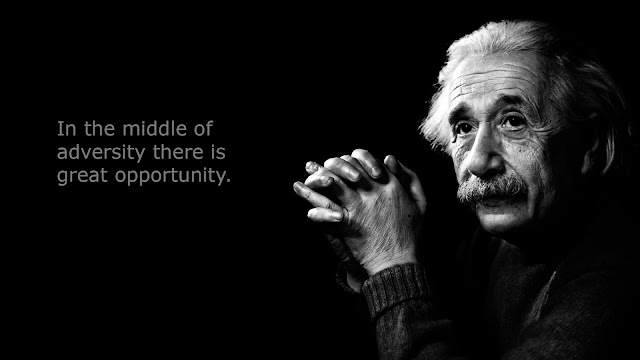 Animating quotes by Albert Einstein
