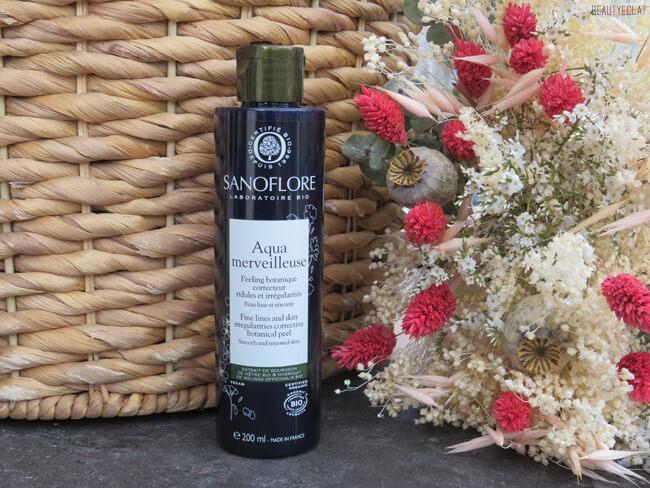 sanoflore aqua merveilleuse peeling botanique avis