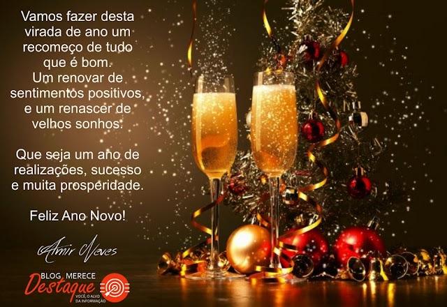 Feliz ano novo aos nossos leitores, colaboradores e amigos!