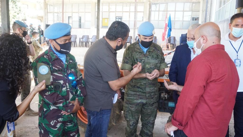 Dansatgas Indobatt Konga XXIII-N/UNIFIL Resmikan Dukungan Alat Pertanian Bagi Warga Lebanon