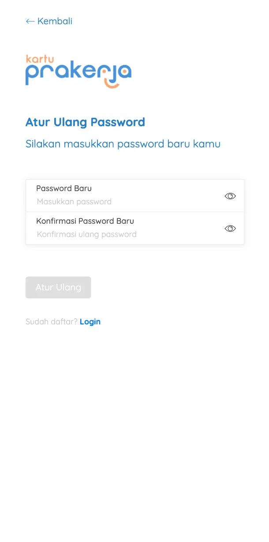 Bagaimana jika saya lupa password Kartu Prakerja ?
