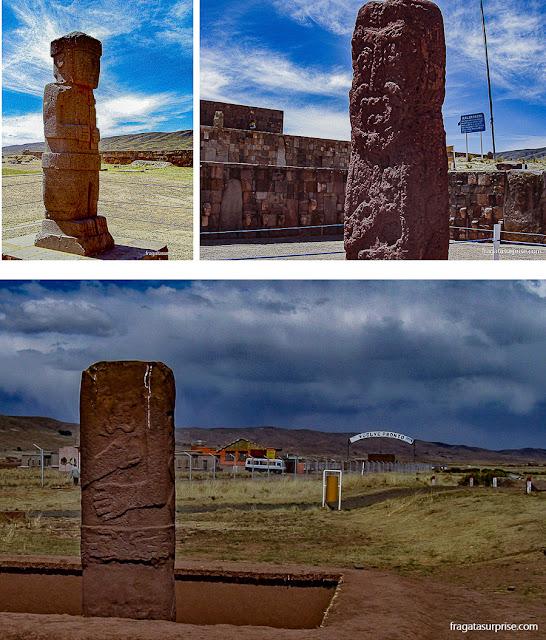 Imagens de divindades tiwanakotas encontradas no sítio arqueológico de Tiawanaku