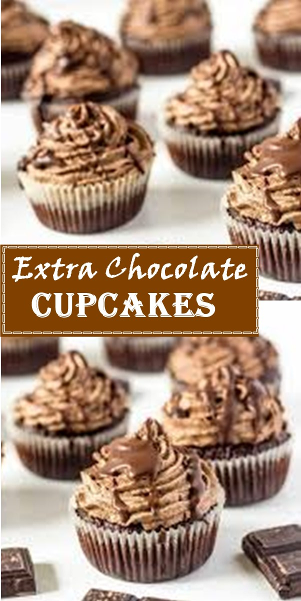 Extra Chocolate Cupcakes #cupcakerecipes