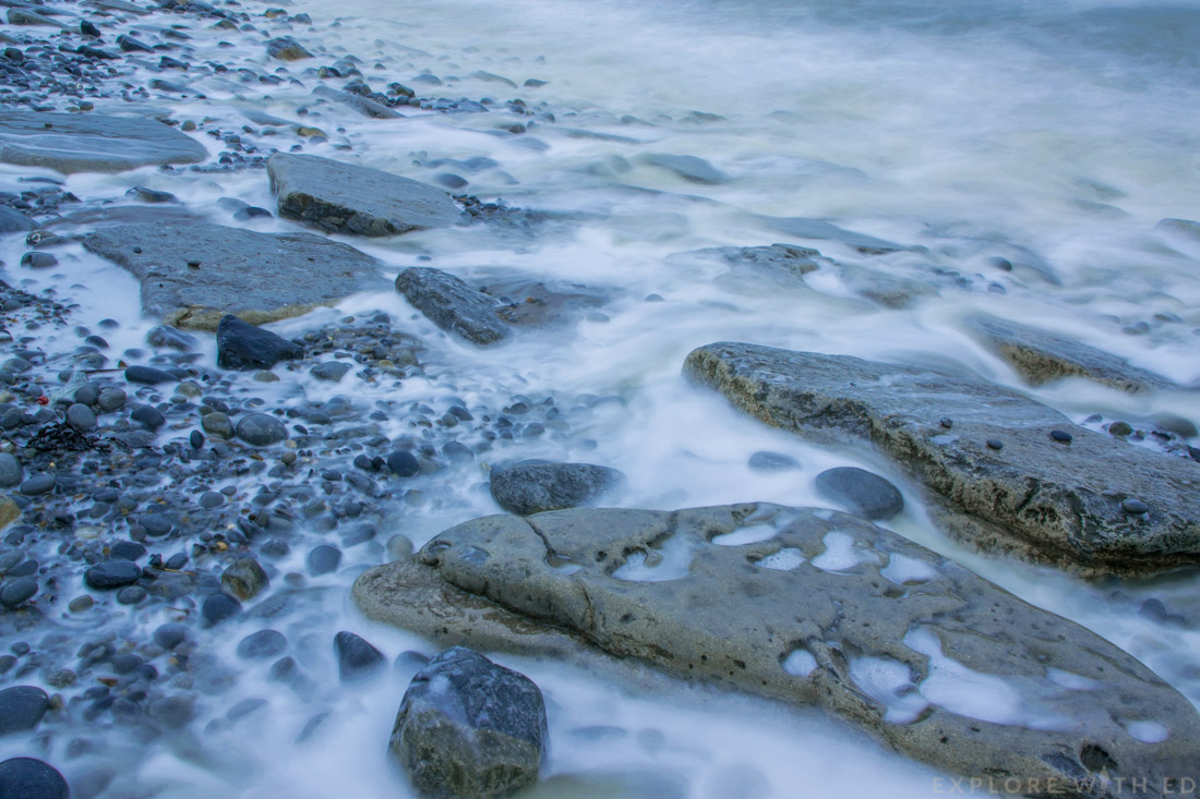 Long exposure photography, smokey sea, Dunraven Bay