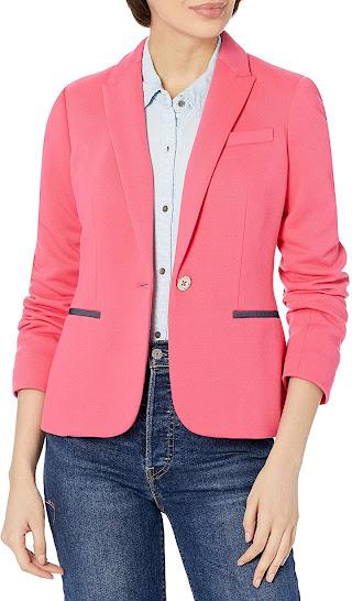 Trendy Pink Blazers Jackets for Women