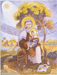 Φυγή Ιησού Χριστού στην Αίγυπτο  διά χειρός Ιωάννη Χ. Βρανού