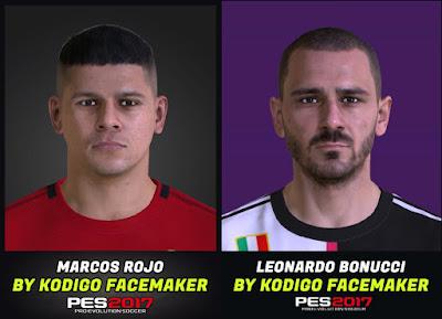 PES 2017 Facepack Marcos Rojo & Leonardo Bonucci by Kodigo