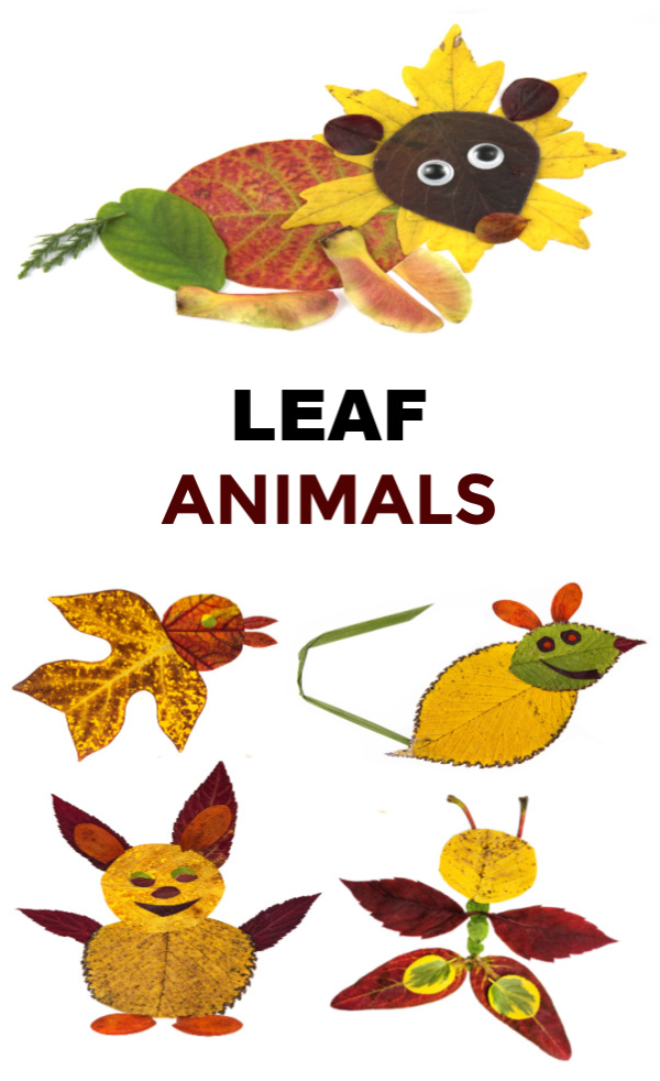 Turn fallen leaves into beautiful works of art and make leaf animal collages.  This craft is great for preschool and elementary aged kids. #leafart #leafcrafts #leafcraftsforkids #leafcraftspreschool #leafcollageart #leafcollaagesforkids #leafanimals #leafanimalscraftkids #leafartprojectsforkids #leafactivitiesforkids #fallcrafts #growingajeweledrose #activitiesforkids